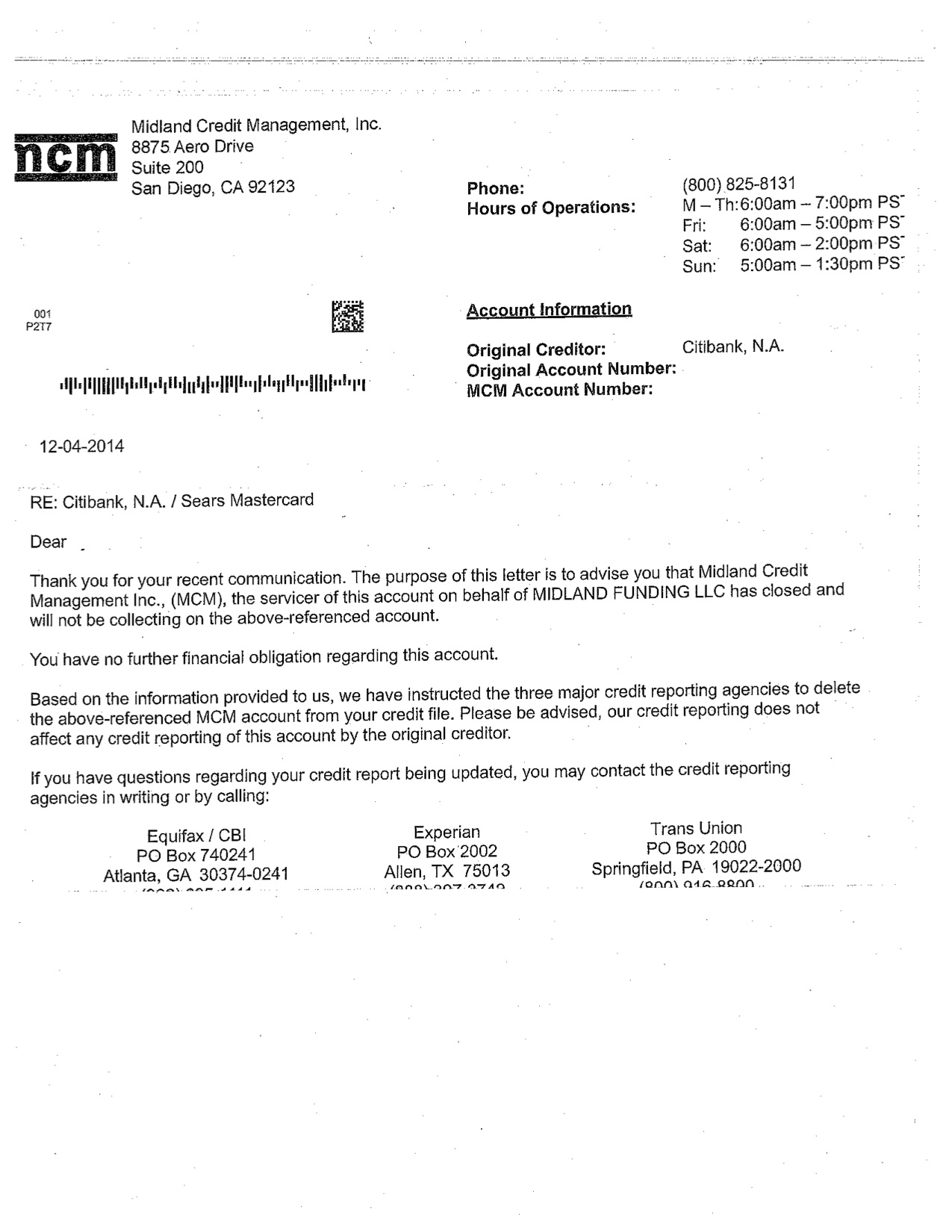 debt validation letter illustrating success