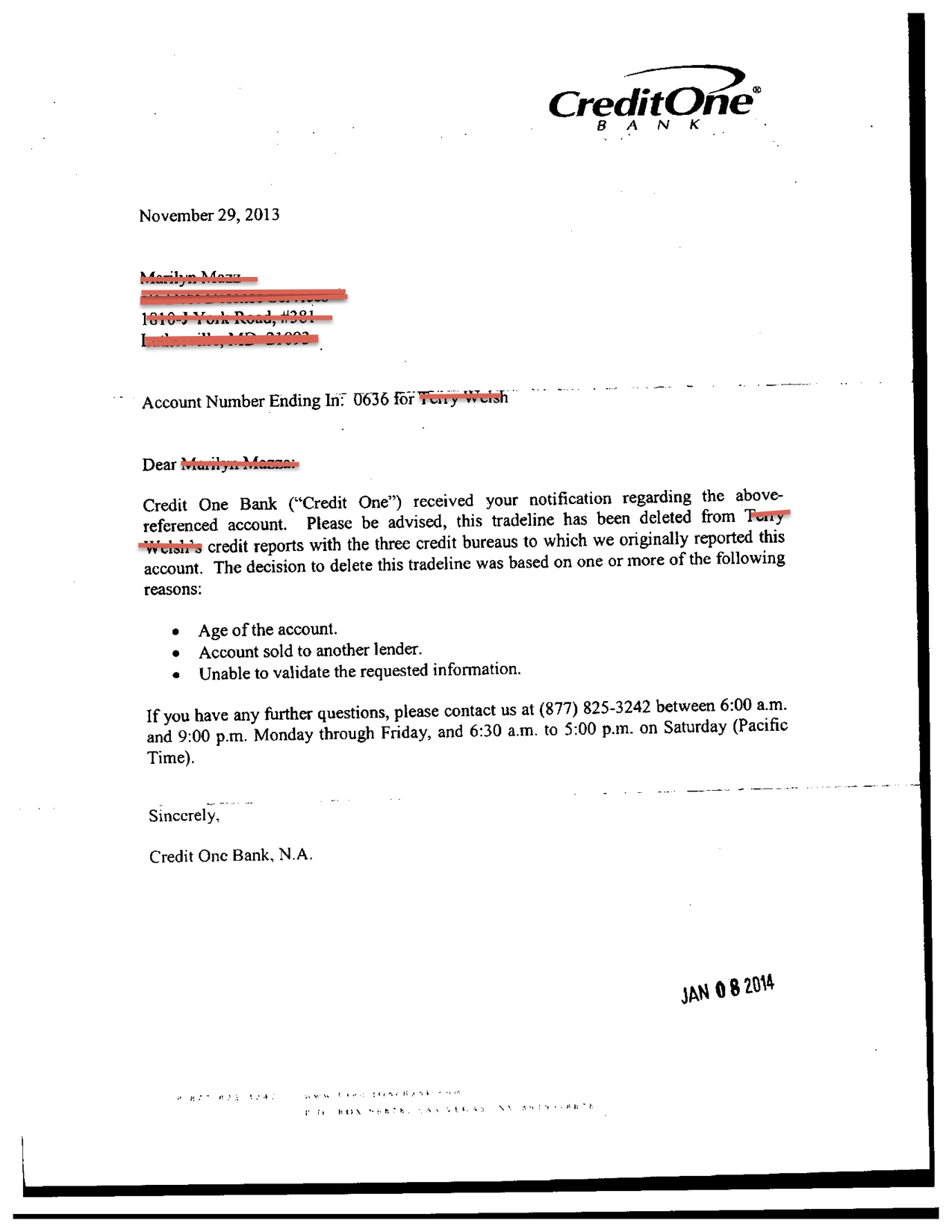Sample Letter For Disputing A Debt Collection Notice from nomorecreditcards.com