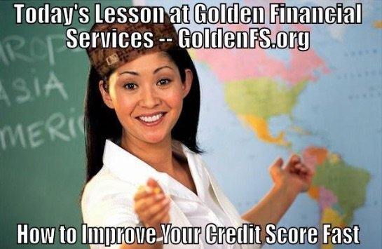 Improve your credit, by first increasing your credit score.